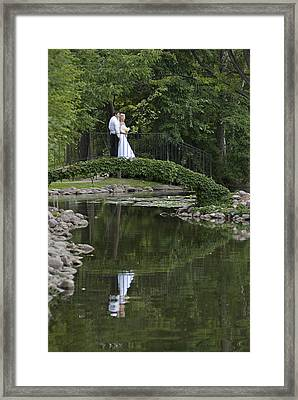 Framed Print featuring the photograph A Wedding In The Park by Judy  Johnson