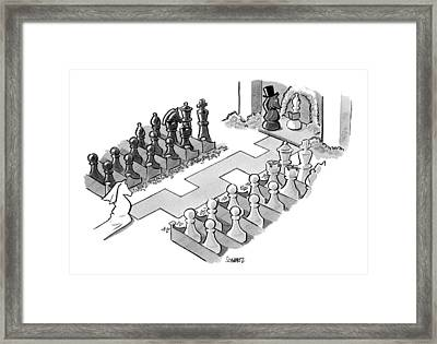 A Wedding In Which The Characters Are All Chess Framed Print