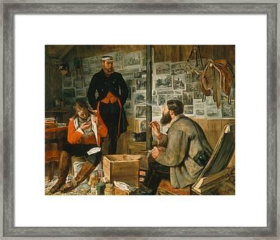 A Welcome Arrival, 1857 Framed Print by John Dalbiac Luard