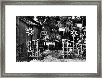 A Welcome Sign Bw Framed Print