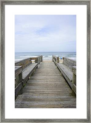 Framed Print featuring the photograph A Welcoming View by Laurie Perry
