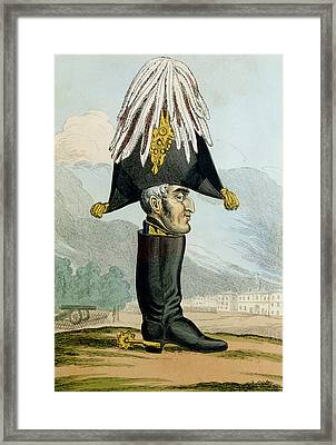 A Wellington Boot Or The Head Framed Print by English School