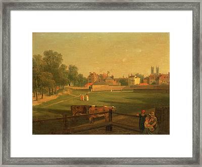 A Western View Of Part Of Westminster And Bird Cage Walk Framed Print
