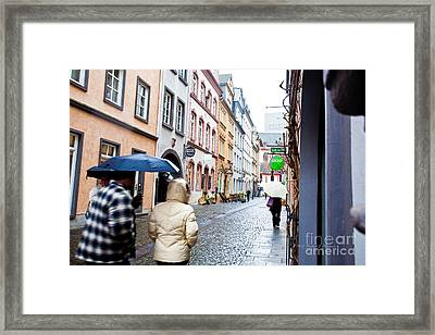 A Wet Walk Framed Print