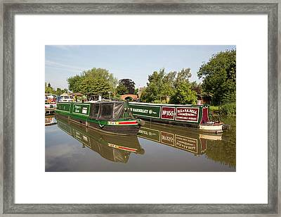 A Wharf In Barrow Upon Soar Framed Print by Ashley Cooper