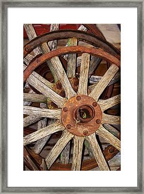 A Wheel In A Wheel Framed Print by Phyllis Denton