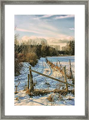 A Whiff Of Winter Framed Print