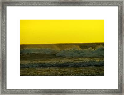 A Whisp Of Wind On The Waves Framed Print by Jeff Swan