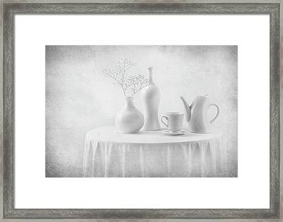 A White Dream Framed Print