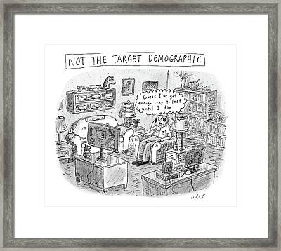 A White, Middle-aged Male Is Deemed: Framed Print by Roz Chast
