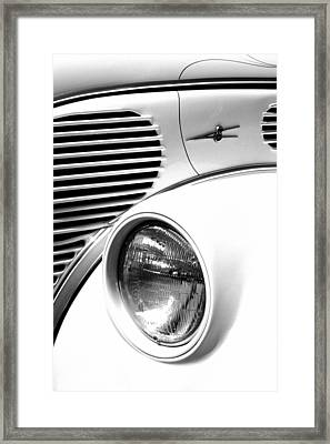 A White V8 Framed Print by Paul W Faust -  Impressions of Light