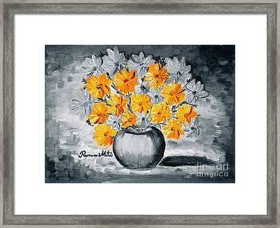 A Whole Bunch Of Daisies Selective Color I Framed Print by Ramona Matei