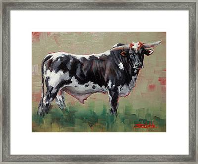 A Whole Lotta' Bull Framed Print