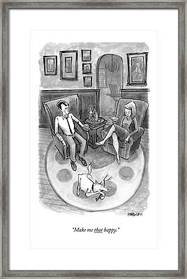 A Wife Speaks To Her Husband Framed Print