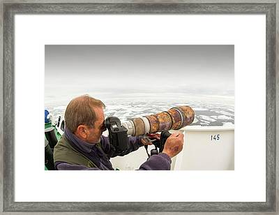 A Wildlife Photographer Framed Print by Ashley Cooper