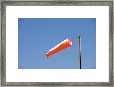 A Wind Sock On Tresco Framed Print by Ashley Cooper