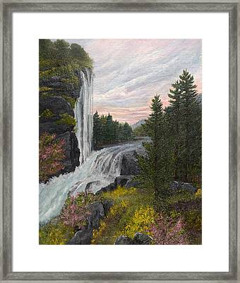 A Winding Journey Framed Print by Barbara Willms