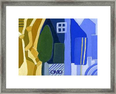 A Window Among Trees Framed Print by Olivia  M Dickerson