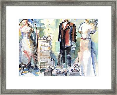 A Window Dressing Framed Print by Lola Waller