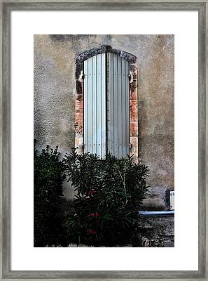 A Window In France Framed Print by Tom Prendergast