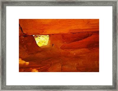 A Window In The Rock Framed Print by Jeff Swan