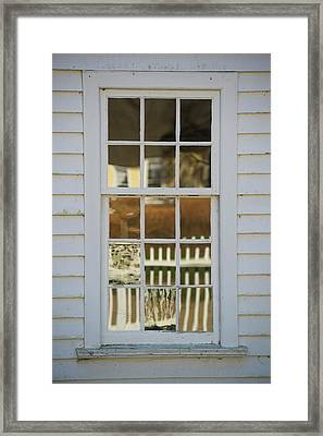 A Window Made With Antique Glass Framed Print
