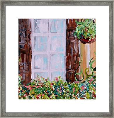 A Window View Framed Print by Eloise Schneider