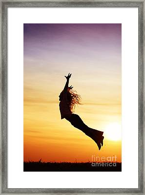 A Windy Day Framed Print by Tim Gainey