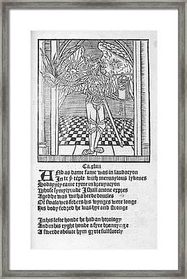 A Winged Male Figure Framed Print