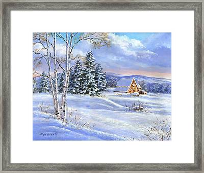 A Winter Afternoon Framed Print by Richard De Wolfe