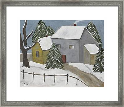 A Winter Day Framed Print