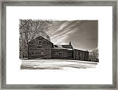 A Winter Dream Monchrome Framed Print by Steve Harrington