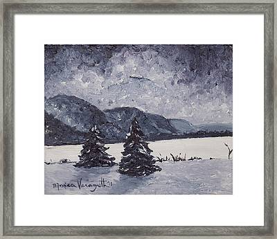 A Winter Evening Framed Print