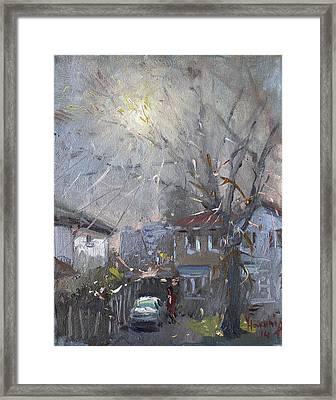 A Hazy Winter Day Framed Print by Ylli Haruni
