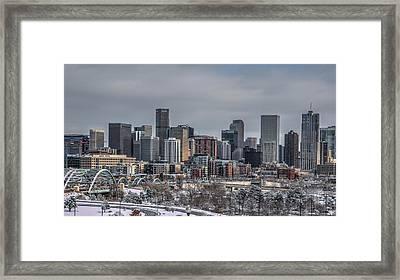 A Winter In Denver Framed Print by Ryan Harter