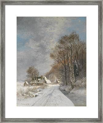 A Winter Landscape Framed Print