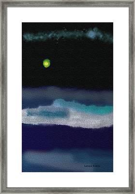 A Winter Night Framed Print by Lenore Senior