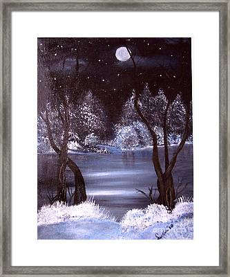 A Winter Night Framed Print