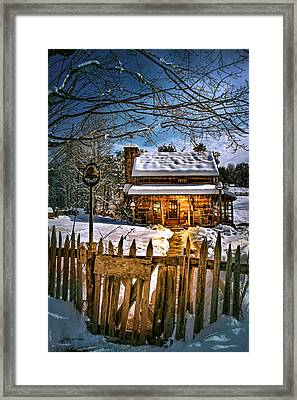 A Winter Night Framed Print by Mary Almond