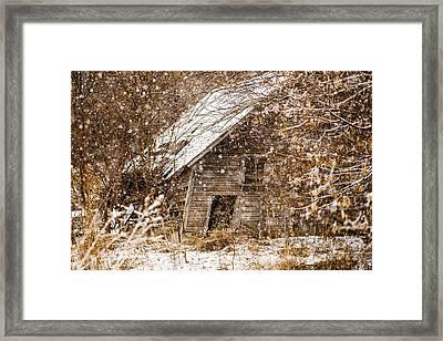 A Winter Shed Framed Print