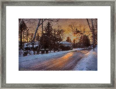 A Winter Sunset Framed Print by Mikki Cucuzzo