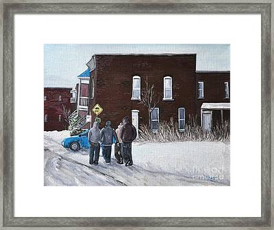 A Winter Walk In Montreal Framed Print by Reb Frost