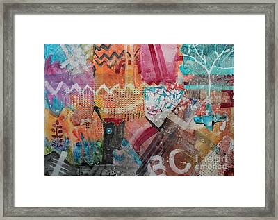 A Winter Walk In The Park Framed Print