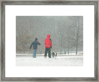 A Winter Walk In The Park - Silver Spring Md Framed Print by Emmy Marie Vickers