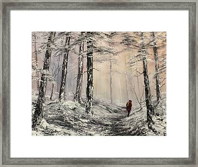 A Winter Walk Framed Print by Jean Walker