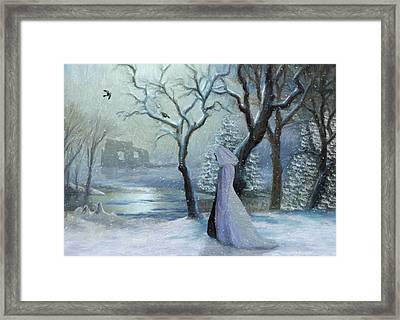 A Winter Walk Framed Print