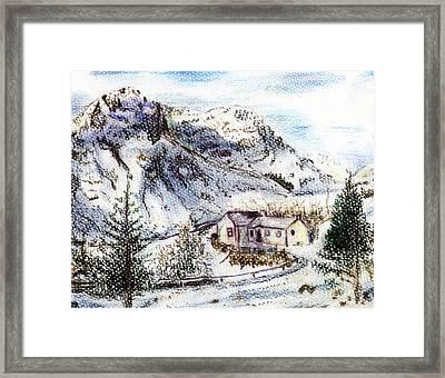 Alpine Winter Wonderland Framed Print by Madeline Moore