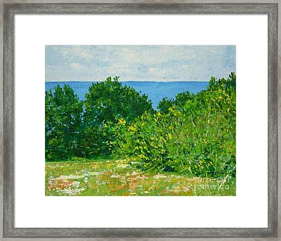 A Winter's Day At The Beach Framed Print