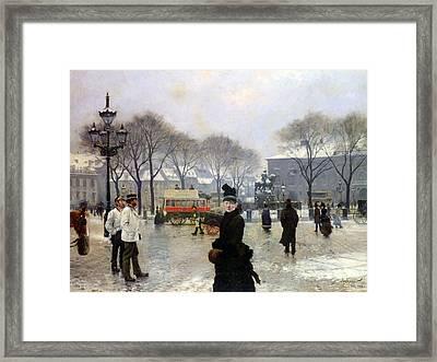 A Winters Day Framed Print by Paul Gustav Fischer