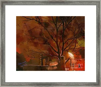 A Winters Night Framed Print
